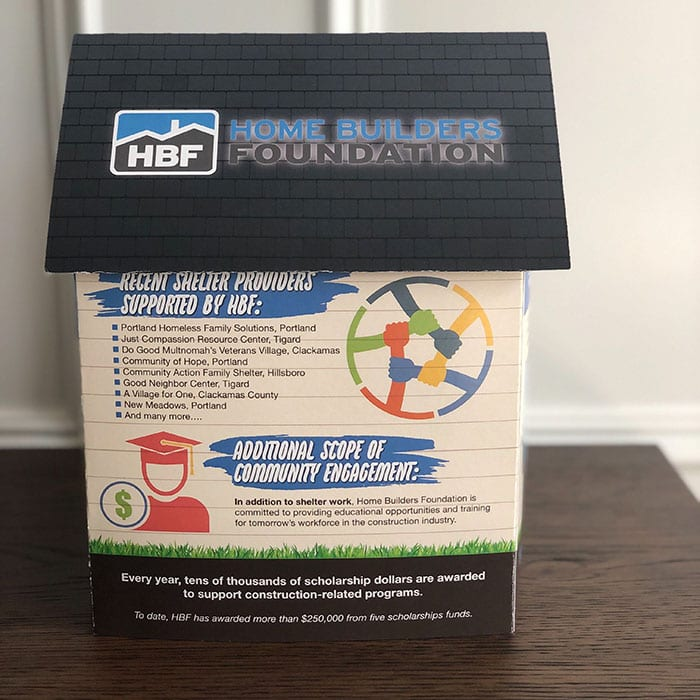 paper popup for Home Builders Foundation