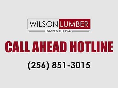 Call Ahead Hotline